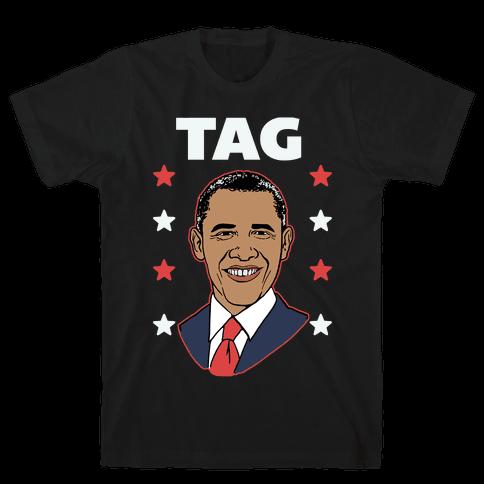 Tag Team Barack & Michelle Obama 1 Mens T-Shirt