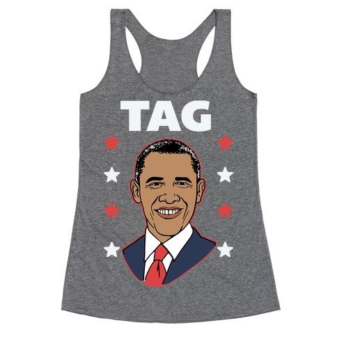 Tag Team Barack & Michelle Obama 1 Racerback Tank Top