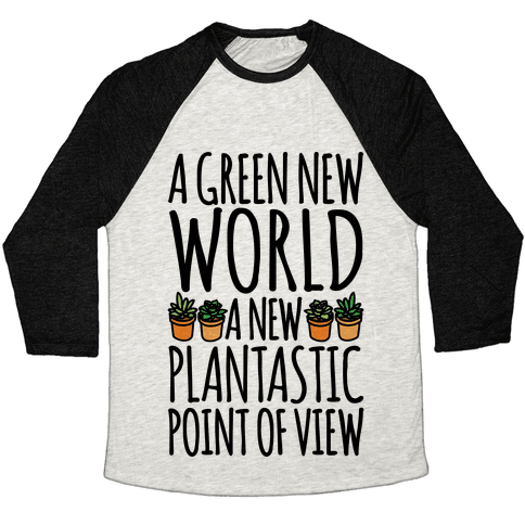 A Green New World Parody Baseball Tee
