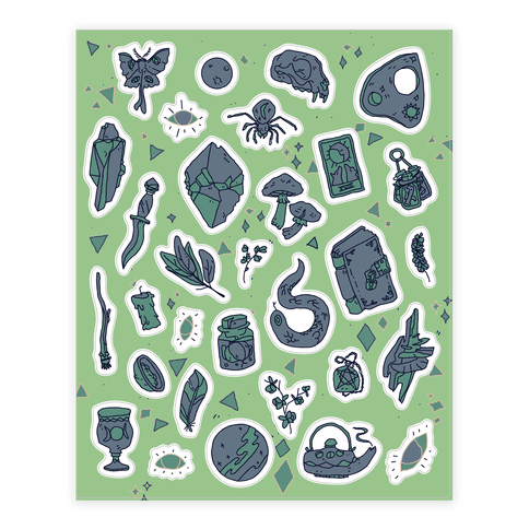 Witchy Pattern Sticker and Decal Sheet