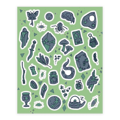 Witchy Stickers Sticker and Decal Sheet