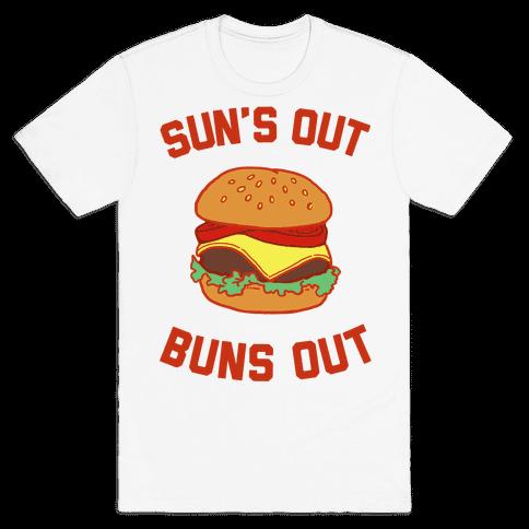 Suns Out Buns Out Mens T-Shirt