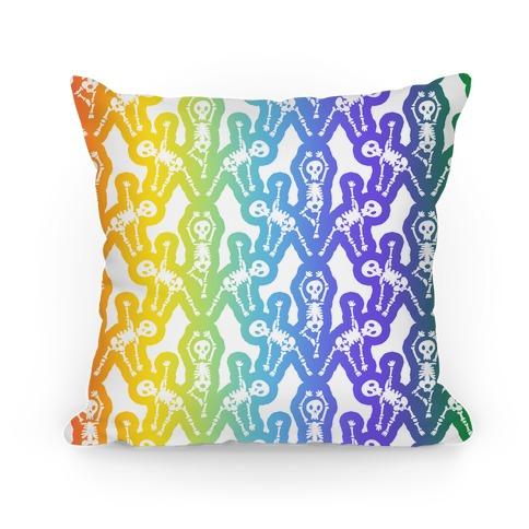Gay Skeleton Pattern Pillow