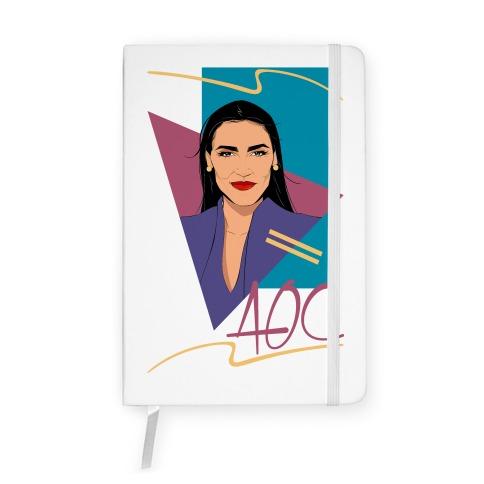 80s Style AOC Alexandria Ocasi-Cortez Parody Notebook