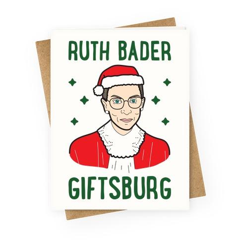 Ruth Bader Giftsburg Greeting Card