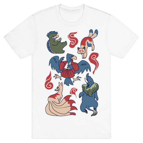 Yokai Guys Pattern  Mens T-Shirt