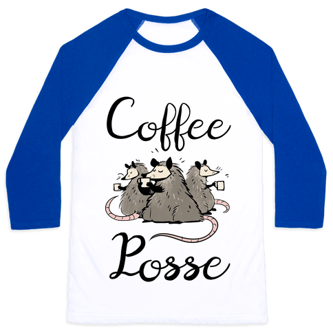 Coffee Posse Baseball Tee