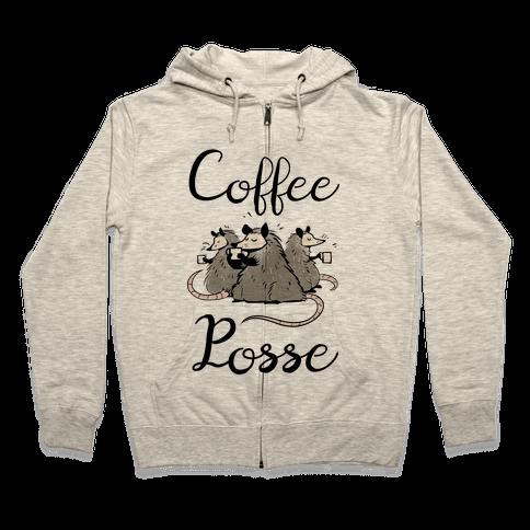 Coffee Posse Zip Hoodie