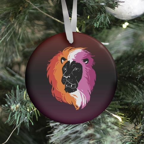 Lesbian Lion Pride Ornament