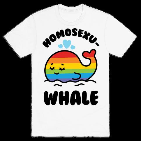 Homosexu-Whale Mens T-Shirt