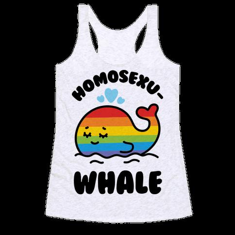 Homosexu-Whale Racerback Tank Top