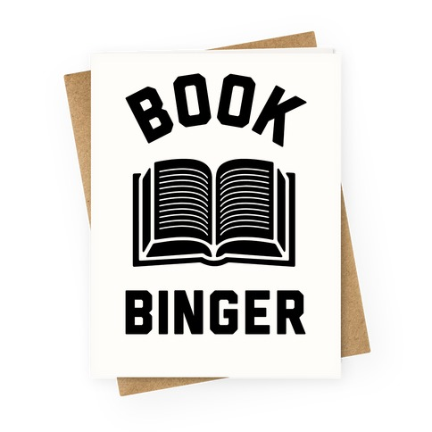 Book Binger Greeting Card