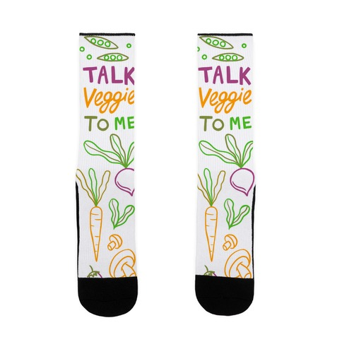 Talk Veggie To Me Sock