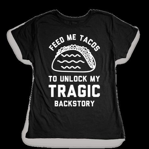 Unlock My Tragic Backstory Womens T-Shirt