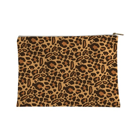 Leopard Print Pattern Accessory Bag