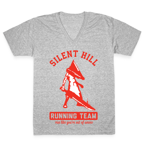 Silent Hill Running Team V-Neck Tee Shirt