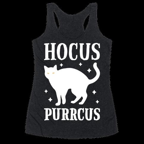 Hocus Purrcus Cat Racerback Tank Top