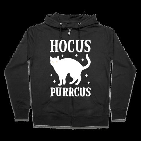 Hocus Purrcus Cat Zip Hoodie