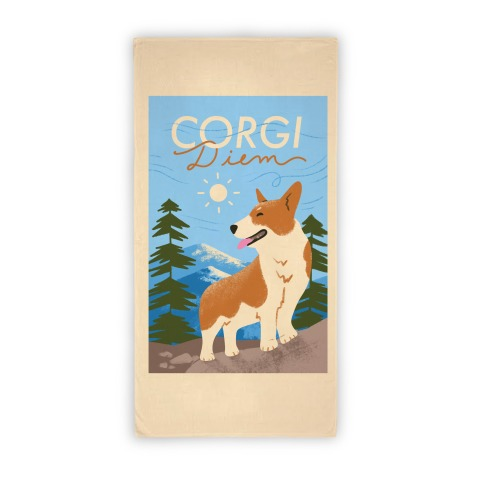 Corgi Diem Beach Towel