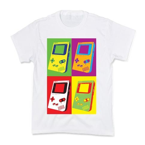 Gameboy Pop Art Pattern Kids T-Shirt