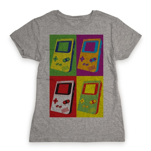Gameboy Pop Art Pattern Womens T-Shirt