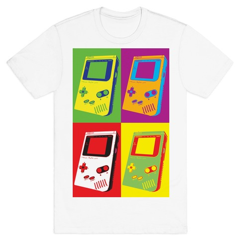 Gameboy Pop Art Pattern T-Shirt