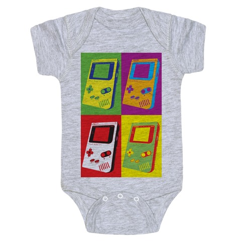 Gameboy Pop Art Pattern Baby Onesy