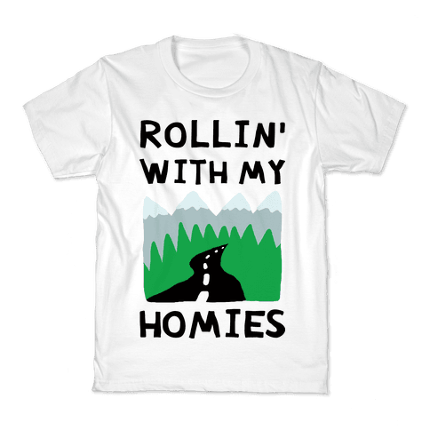 Rollin' With My Homies Roadtrip Kids T-Shirt