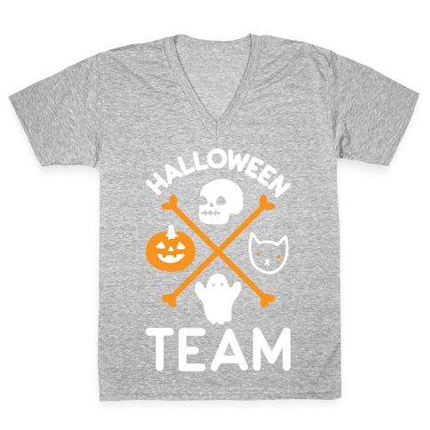 Halloween Team V-Neck Tee Shirt
