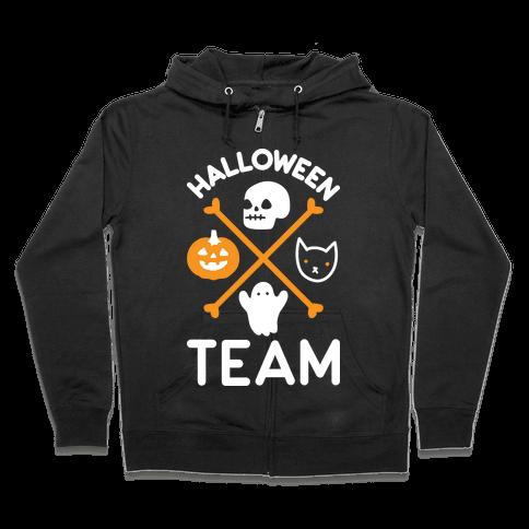 Halloween Team Zip Hoodie