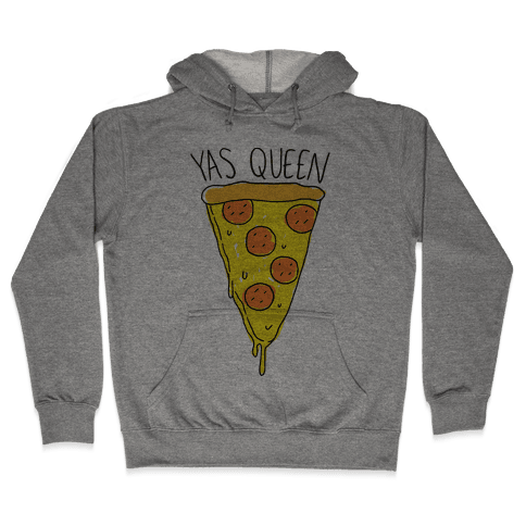 Yas Queen Pizza Hooded Sweatshirt