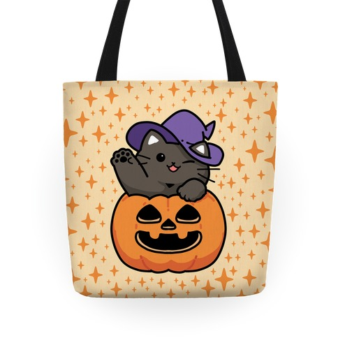 Cute Halloween Cat Tote