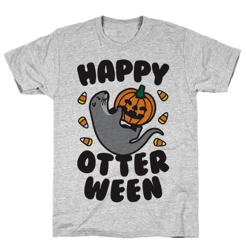Happy Otterween Mens T-Shirt