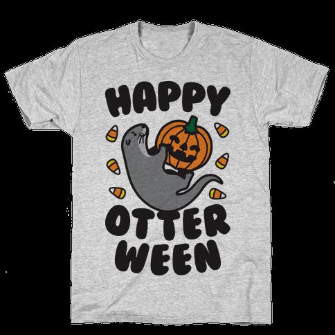 Happy Otterween Mens T-Shirt