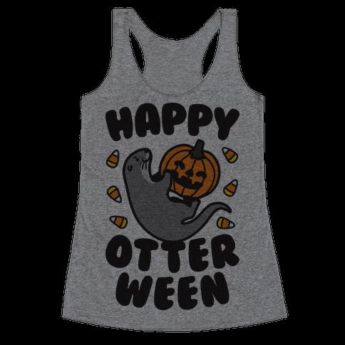 Happy Otterween Racerback Tank Top