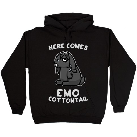 Here Comes Emo Cottontail Hooded Sweatshirt