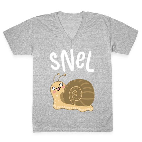 Snel Derpy Snail V-Neck Tee Shirt