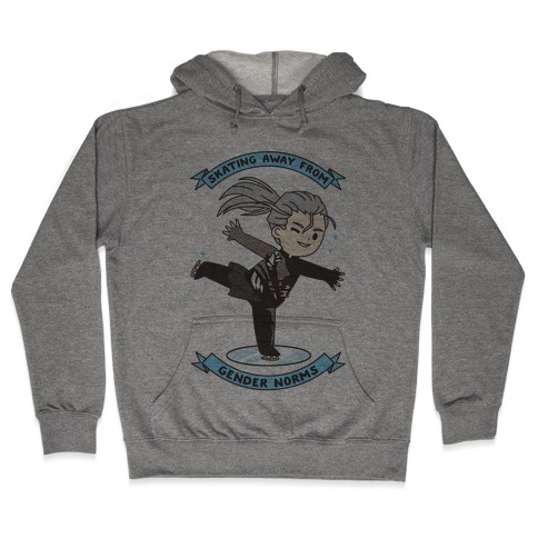 Skating Away From Gender Norms Hooded Sweatshirt