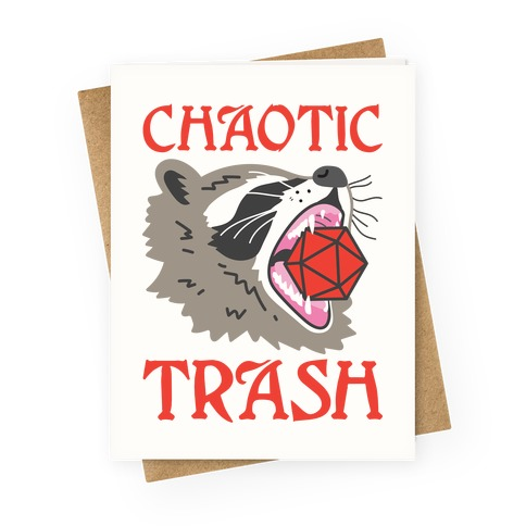 Chaotic Trash (Raccoon) Greeting Card
