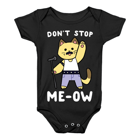 Don't Stop Me-ow Baby Onesy