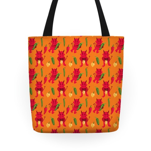 Spicy Demons Pattern Tote