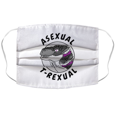 Asexual T-Rexual Accordion Face Mask