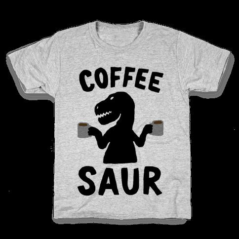 Coffeesaur Dinosaur Kids T-Shirt