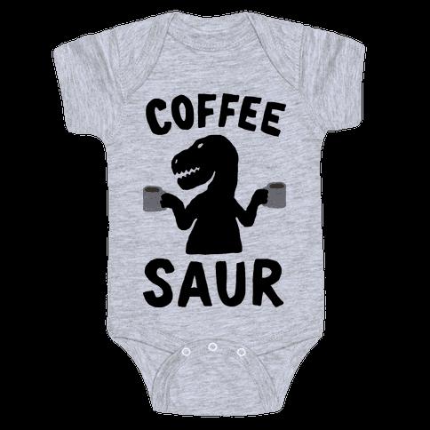 Coffeesaur Dinosaur Baby Onesy