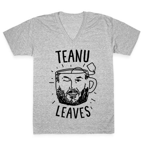 Teanu Leaves V-Neck Tee Shirt
