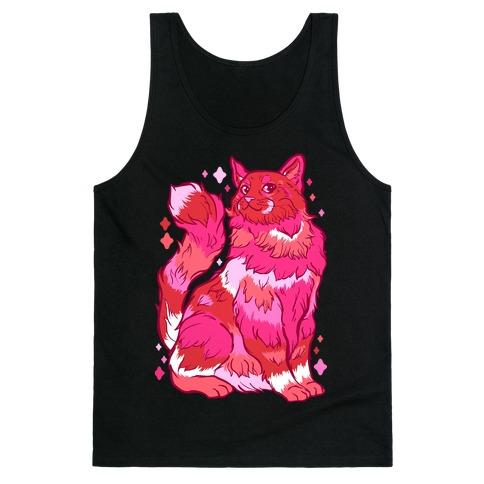Lesbian Pride Cat Tank Top