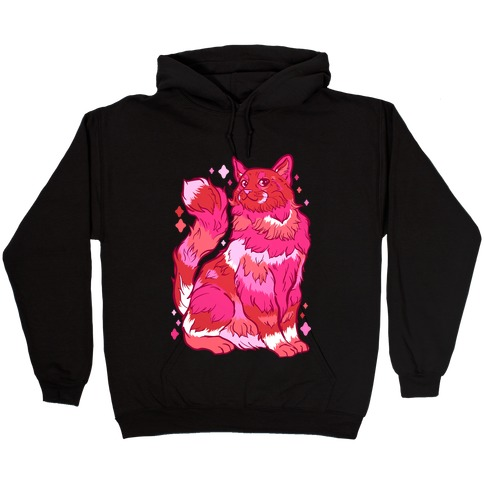 Lesbian Pride Cat Hooded Sweatshirt