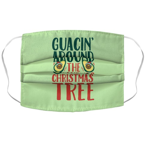 Guacin' Around The Christmas Tree Accordion Face Mask