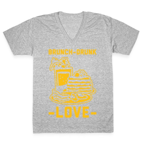 Brunch-Drunk Love V-Neck Tee Shirt