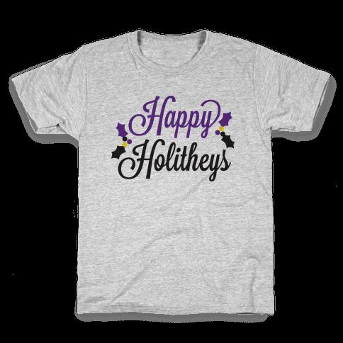 Happy Holitheys! Non-binary Holiday Kids T-Shirt